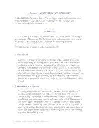 A sample maintenance contract template for you in ms word format. Web Site Maintenance Contract 3 Easy Steps