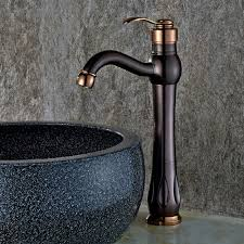 inias classic single handle one hole oil rubbed bronze rose gold bathroom vessel sink faucet