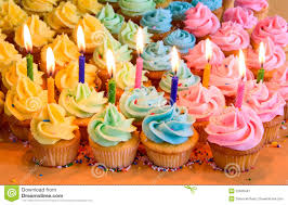 Pictures Of Birthday Cupcakes With Candles Zwonzorg