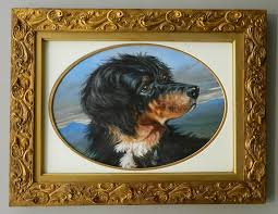 antique dog art