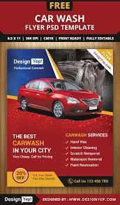 Free Car Wash Flyers Designs Free Car Wash Flyer Psd Template 3232 Designyep Car Wash