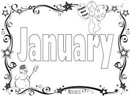 Print all of our january pages and worksheets for free. Start The New Year With A January Coloring Page Song Coloring Pages Month Colors Months In A Year