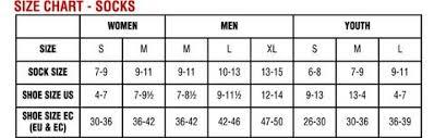 Men S Sock Size Chart Mens Sock Sizing Chart 2019
