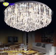 amazing flushmount 4 light chrome and white crystal chandelier hd