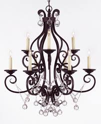 oil rubbed bronze crystal chandelier lighting designs