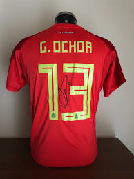 Photos Of Shirt - Guillermo Catawiki World And Mexico The 2018 Goalkeeper Signed Coa With Cup Signing Ochoa Moment|49ers Vs. Cardinals: Full San Francisco Game Preview