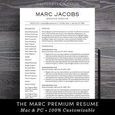 Design Resume Templates Enchanting Modern Resume Template CV Template For Pages Word Etsy