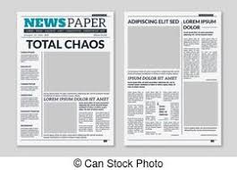 Newspaper Editorial Template Paper Tabloid Newspaper Vector Layout Editorial News