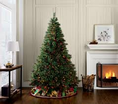 7ft Frosted Spruce Pre Lit Christmas Tree  Lights4funcoukBlue Spruce Pre Lit Christmas Tree