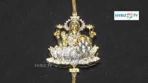 diamond mangalsutra with lakshmi devi pendant malabar gold and diamonds