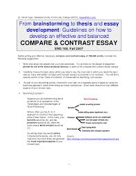 example comparison essay thesis resume ideas compare and contrast  cover letter example comparison essay thesis resume ideas compare and contrast examples ideasthesis examples for compare