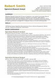 Research Resume Samples Operations Research Analyst Resume Samples Qwikresume