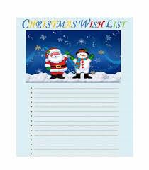 43 Printable Christmas Wish List Templates & Ideas - Template Archive