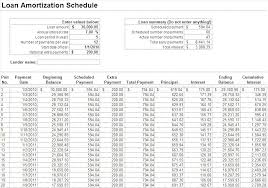 Year Amortization Schedule Excel Printable Template Monster Login