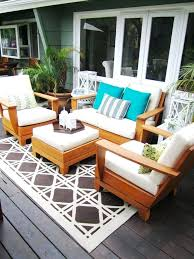 broyhill outdoor furniture deck contemporary with area rug container plants decorative pillows wicker chair