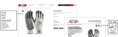 Glove Cut Rating Chart Updated En 388 Standard For Cut Resistance