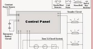electrical engineering world a wiring diagram for a simple fire fire alarm wiring schematic at Fire Alarm Loop Wiring