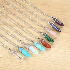 best spiritual seekers stone crystal necklaces