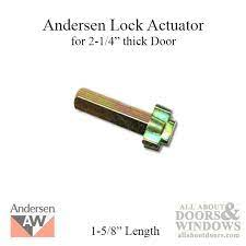 cross shaped lock actuator andersen
