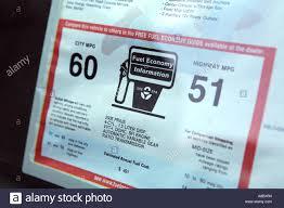 Window sticker on a 2005 Toyota Prius Hybrid Car showing estimated ...