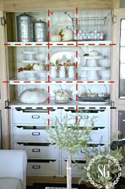 ideas china hutch decor pinterest: styled shelves for fall tutorial decorating shelves
