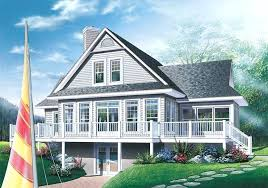 plans cabin cottage house plan front image planore style with walkout basement