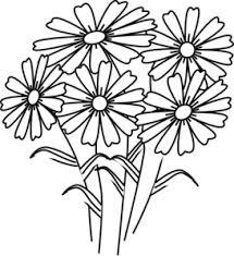coloring book flowers clip art