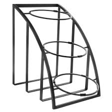 Large Bowl Display Stand CalMil Mission Style Collection 100Tier Black Metal Bowl Display 90