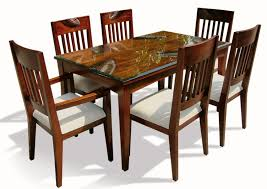 Latest Design Of Small Rectangle Dining Table With Clear Glass Top F And  Rich Cherry Finish