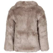 rachel riley girls light brown faux fur jacket