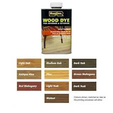 Ronseal Varnish Colour Chart Quick Drying Wood Stain Ronseal Rustins Wood Dye Colour Chart