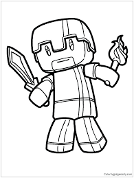 Minecraft Coloring Pages Creeper Of Color Face Pictures Colouring