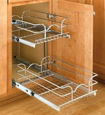 rolling kitchen cabinet shelves two tier organizer extra small image roll out