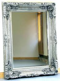 silver framed bathroom mirror large silver framed mirror antique wall mirror gilt wood frame w etched