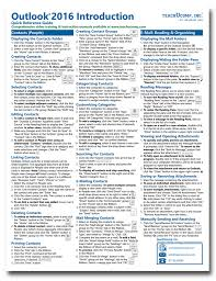 Buy Outlook 2016 Cheat Sheets At Teachucomp Inc