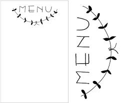 Menu Card Template Reason To Celebrate Free Printable Menu Template Diy