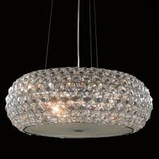 Astra Lighting Limited Visconte Astra Large 6 Light Diamante Ceiling Pendant Light Chrome
