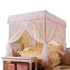 Amazon.com: JQWUPUP Mosquito Net for Bed - 4 Corner Canopy for Beds ...
