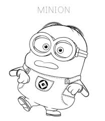 Minions are yellow colored, especially cylindrical creatures with one or two eyes. Despicable Me Minions Coloring Pages Playing Learning