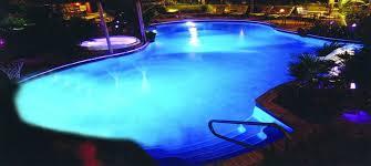 Custom Inground pool at night