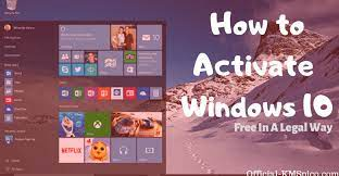 how to activate windows 10 for free in