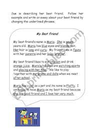 Descriptive Essay On My Best Friend My Best Friend Esl Worksheet By Melanie Bonello