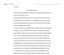childhood memories narrative essay example how to write a history journal article review free earliest memories papers essays