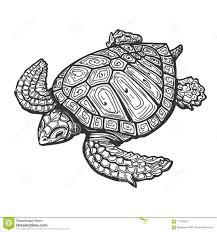 иллюстрация татуировки морской черепахи иллюстрация штока