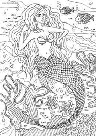 Small Picture Princess Mermaid Adult Coloring Pages Adult ColouringUnder