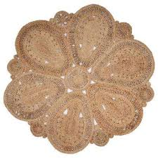 natural jute natural round 4 ft x 4 ft indoor area rug