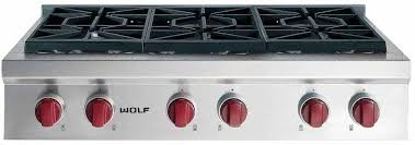 wolf gas stove top. Wolf Gas Stove Top Srt366lp Stainless Steel With Red Knobs Range Reviews
