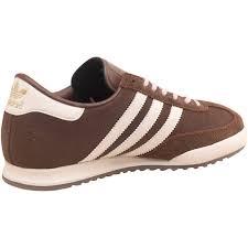 adidas originals mens beckenbauer all round trainers vintage brown white