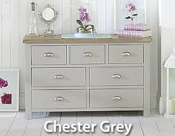 Painted Furniture Grey Cream & White Painted Oak Bedroom