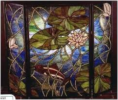 stained glass fireplace screen stained glass fireplace screen pattern marvelous stained glass waterlilies fish fireplace screen